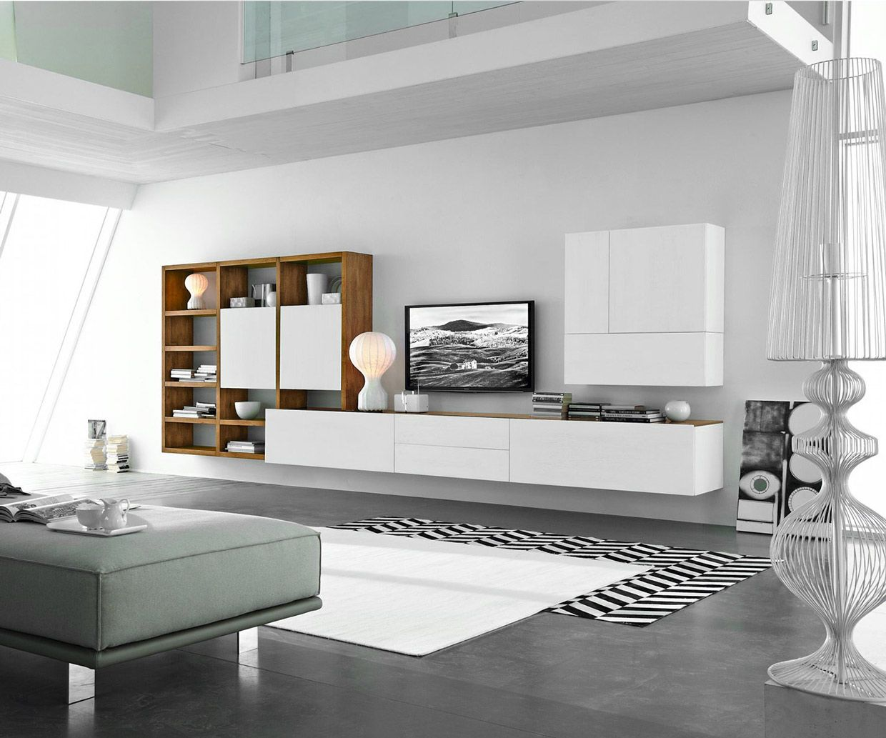 Modern Tv Walls From Fgf Mobili In Italy Made Of Sustainable Wood