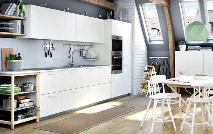 Soggiorno e cucina open space con mobili Metod di Ikea ...