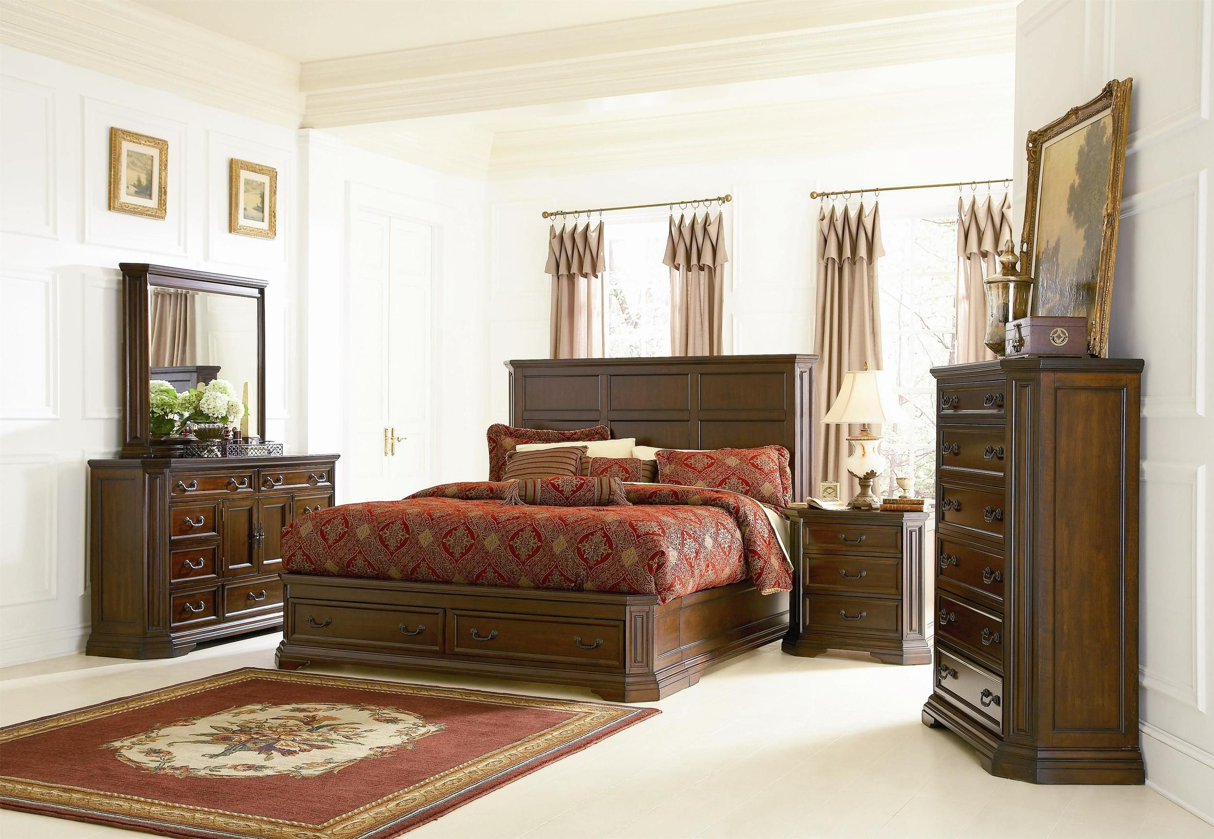 Foxhill Bedroom Set Dark Oak — The Unique Piece King
