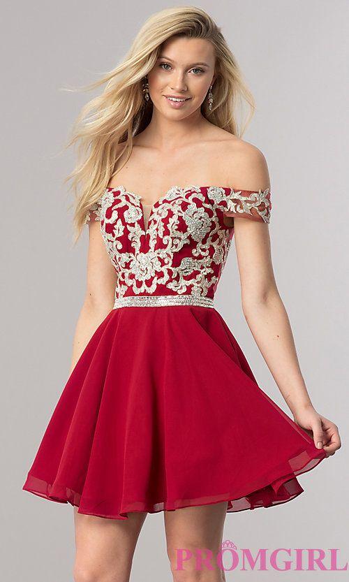 Off the Shoulder Short Prom Dresses