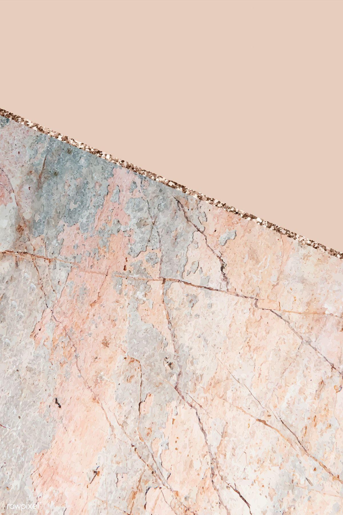 Download Premium Vector Of Pastel Orange Marbled Background Vector 1222936 Gold Wallpaper Background Pink Wallpaper Iphone Backgrounds Tumblr Pastel