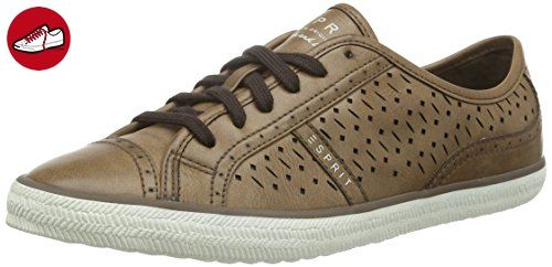 Mega Lace up, Damen Sneakers, Beige (230 Camel), 39 EU Esprit