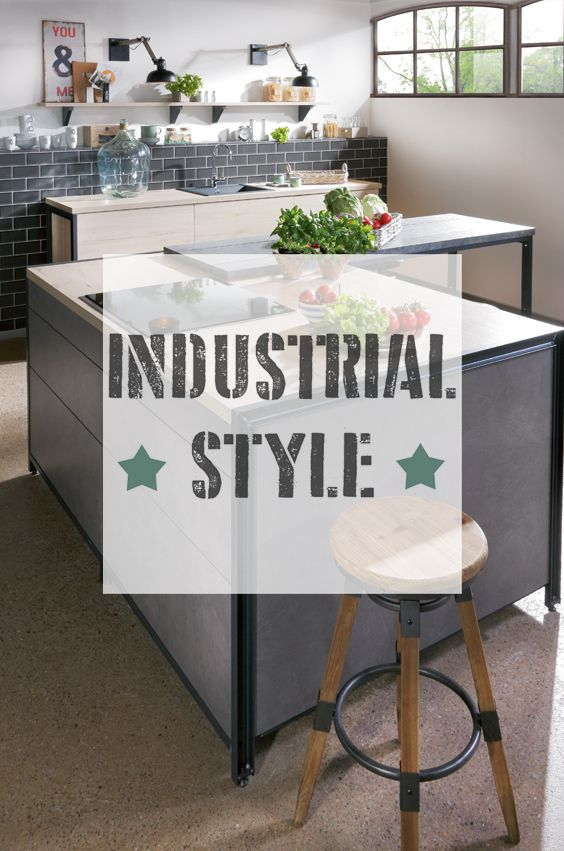 industrial style k chen einrichten in dem beliebten wohntrend im rauhen industrielook. Black Bedroom Furniture Sets. Home Design Ideas