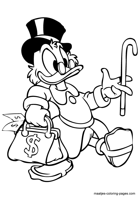Image Result For Coloring Page Characters Scrooge Mcduck Scene