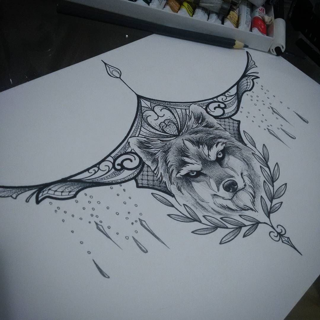 Mandala Wolf Tattoo Designs For Women I Like The: Tattoos, Underboob Tattoo