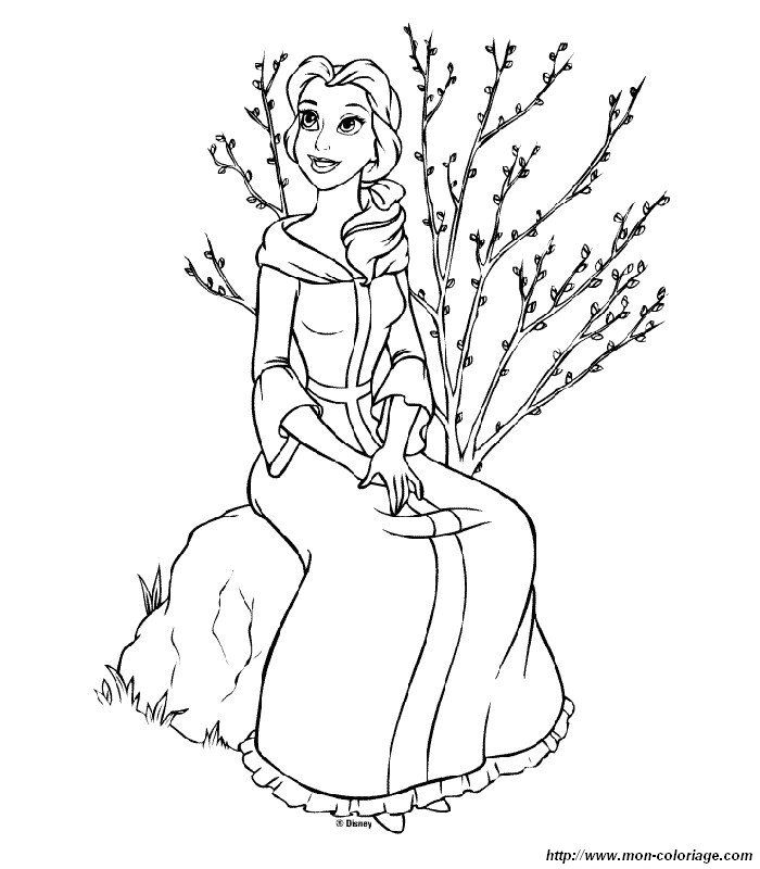 Beauty And The Beast Coloring Page To Print Out Color Picture Pictures