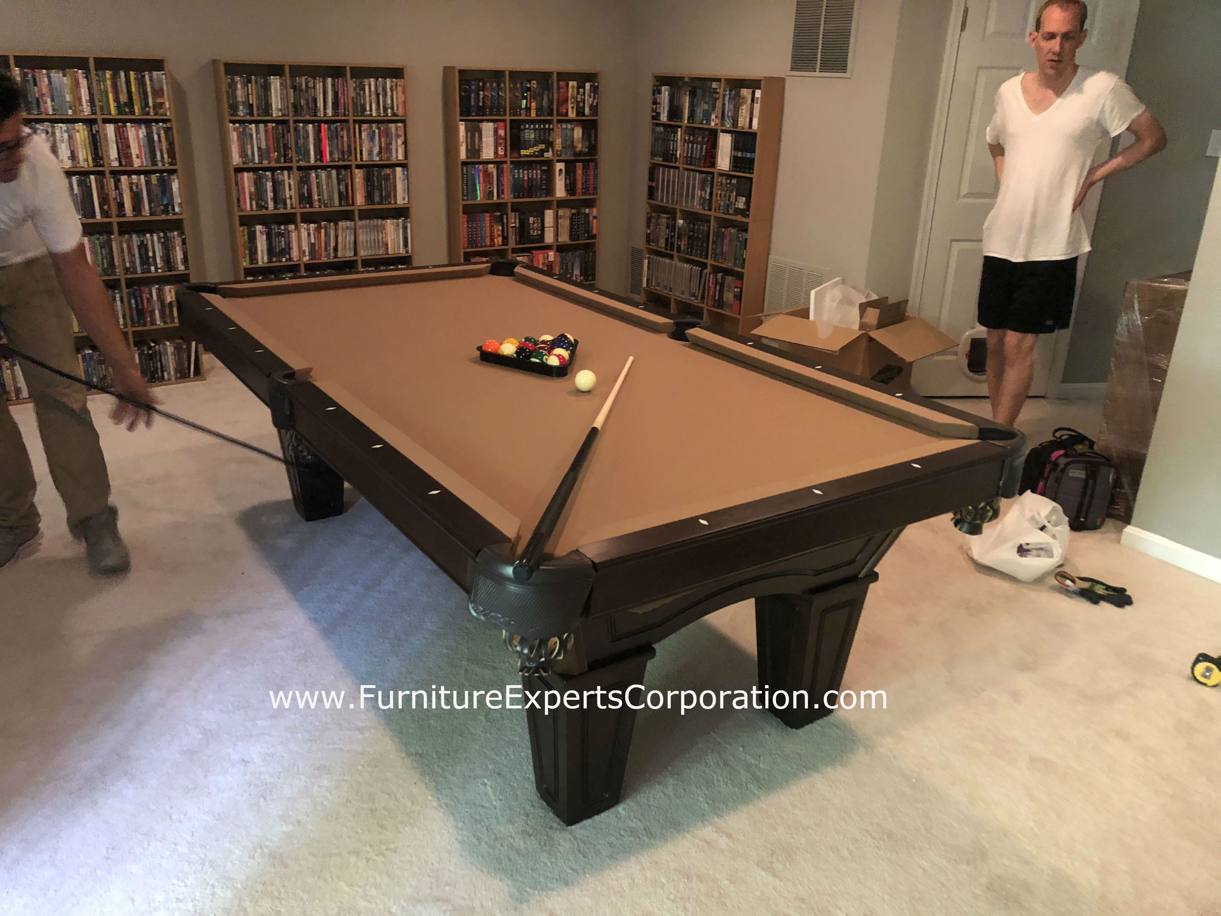 Furniture Experts Corporation TOP POOL TABLE INSTALLERS