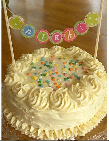 Make a cake banner easy way to dress a somewhat simply decorated