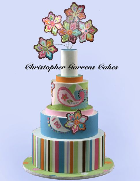 Groovy Paisley By Christopher Garrens Orange County Wedding Cakes At Let Them Eat Cake