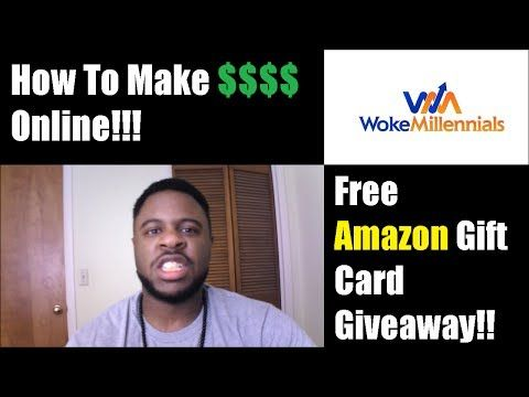 How To Make Money Online + Free Amazon Gift Card Giveaway!   - make gift vouchers online free