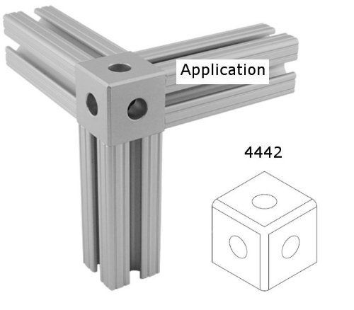 80 20 15 Series 4442 Square Tri Corner Connector By 80 20
