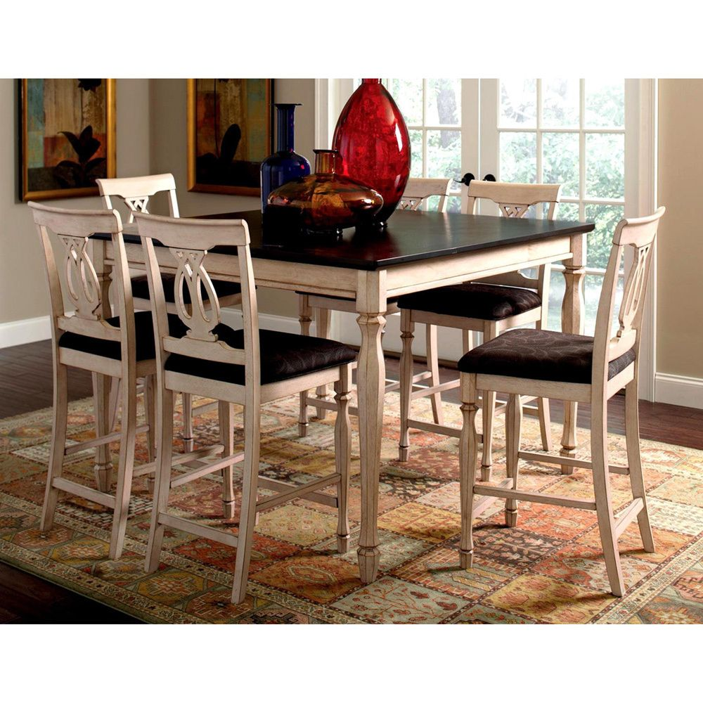 Tribecca home mackenzie 7 piece country white dining set - 17 Best Images About Shabby Chic Eat In Dining On Pinterest Cherries Table Bases And Dining Sets