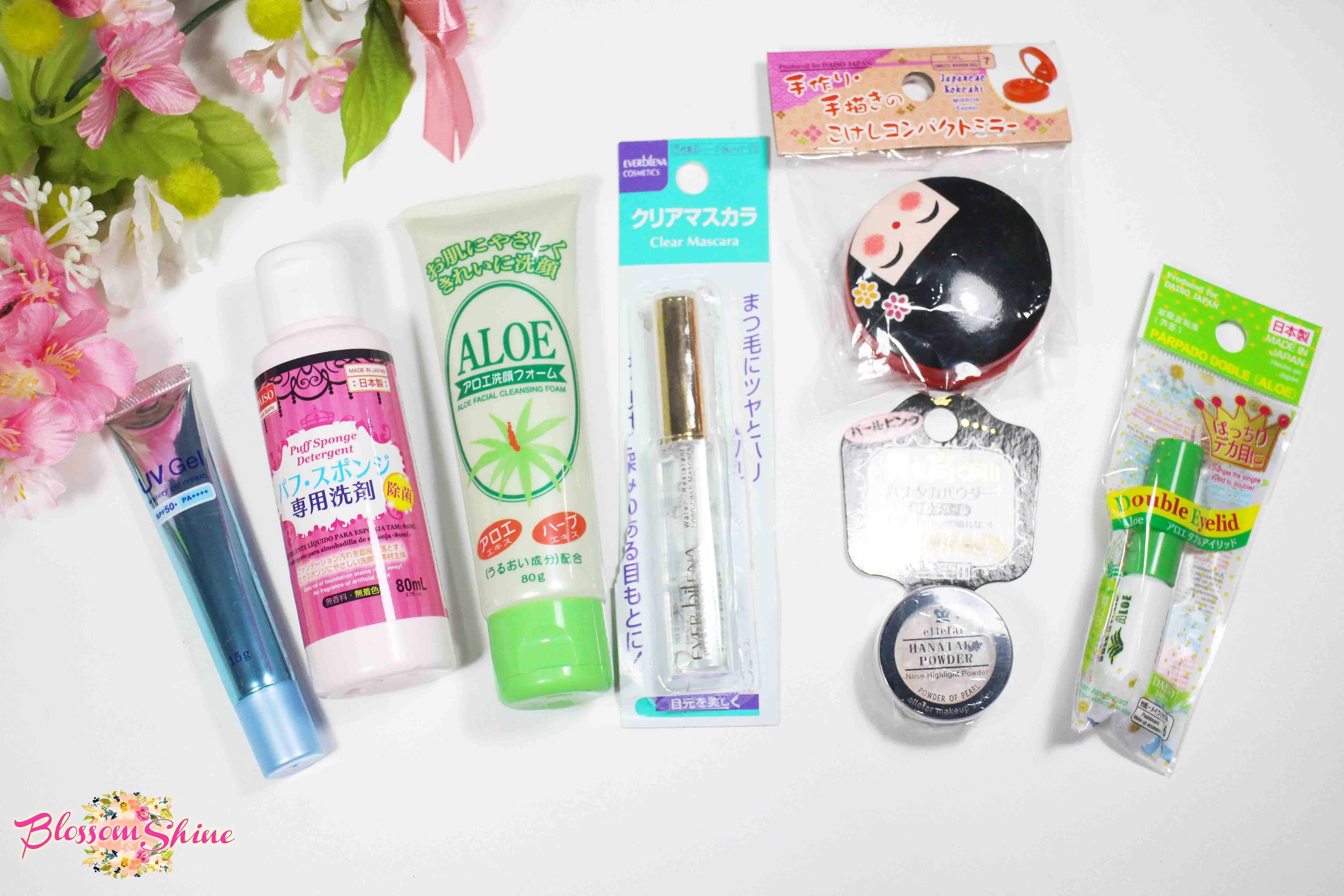 Daiso Beauty Haul Daiso Japan blossomshine makeuphaul