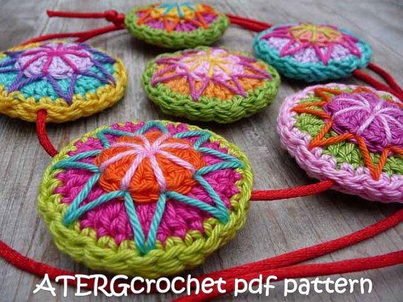 Crochet pdf pattern CIRCLE by ATERGcrochet   Círculos, Ganchillo y ...