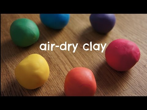 How to Make Rainbow Air Dry Clay Cold Porcelain Recipe