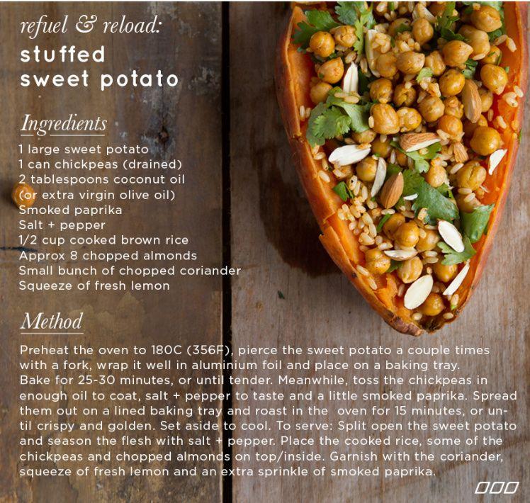 Refuel & Reload: A Stuffed Sweet Potato Recipe! - Move Nourish Believe