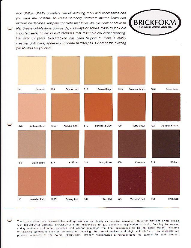 Names Of Colours Colour Pinterest Concrete Contractor