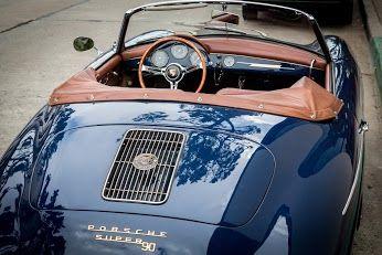 Porsche 356 convertible seen downtown Carmel
