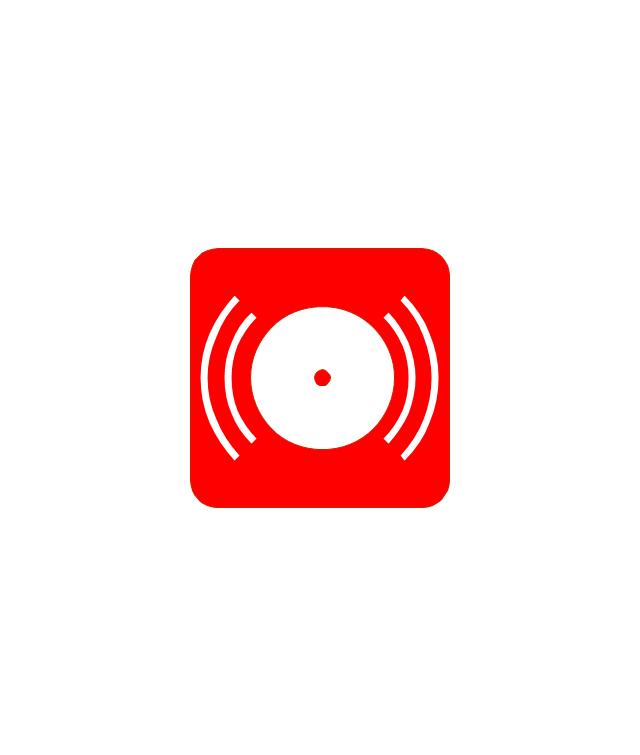 Red Fire Alarm Red Fire Alarm Emergency Symbols Pinterest
