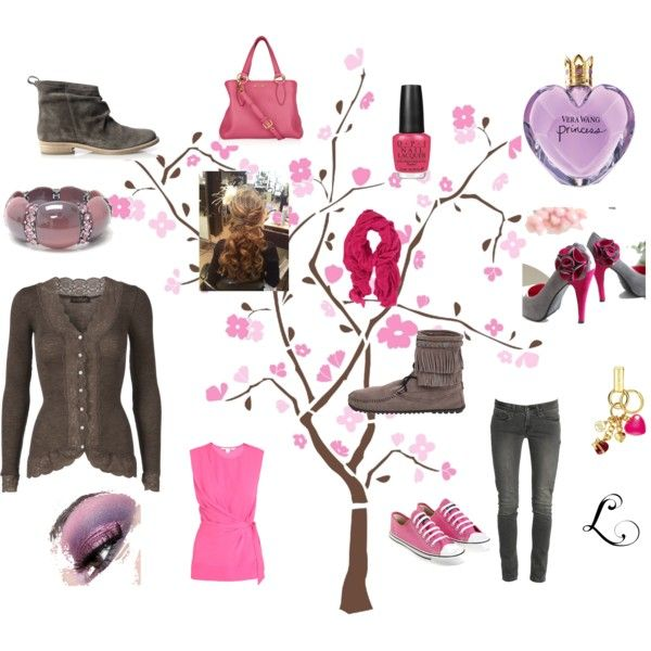 Pinks and Grays, created by #princess-lisa on #polyvore.