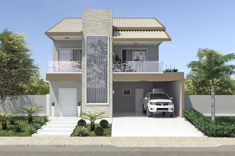 Planta de casa com telhado duas guas projetos de casas for Ver jardines de casas pequenas
