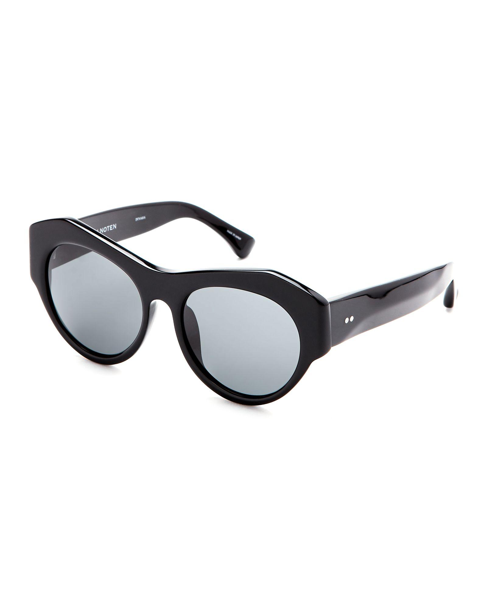 bd40d6cb16b2 Dries Van Noten X Linda Farrow Black DVN68 Cat Eye Sunglasses ...