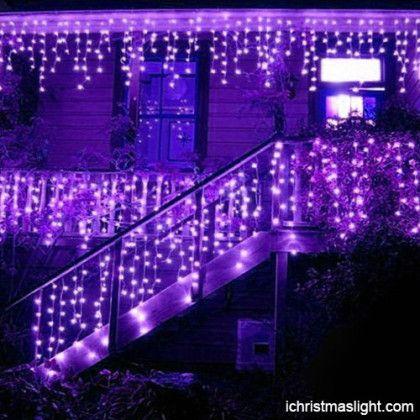 christmas decorative purple icicle lights - Led Christmas Icicle Lights