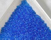 REDUCED! 20 Grams Size 11/0 Miyuki Japanese Glass Seed Beads Transparent Sapphire