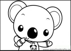 Koala Coloring Pages For Preschool Preschool And Kindergarten Cute Coloring Pages Coloring Books Coloring Pages