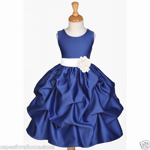 3c2632ae9a4 Navy blue flower girl dress wedding bridesmaid pick up 6m 12m 2 3t 4 ...