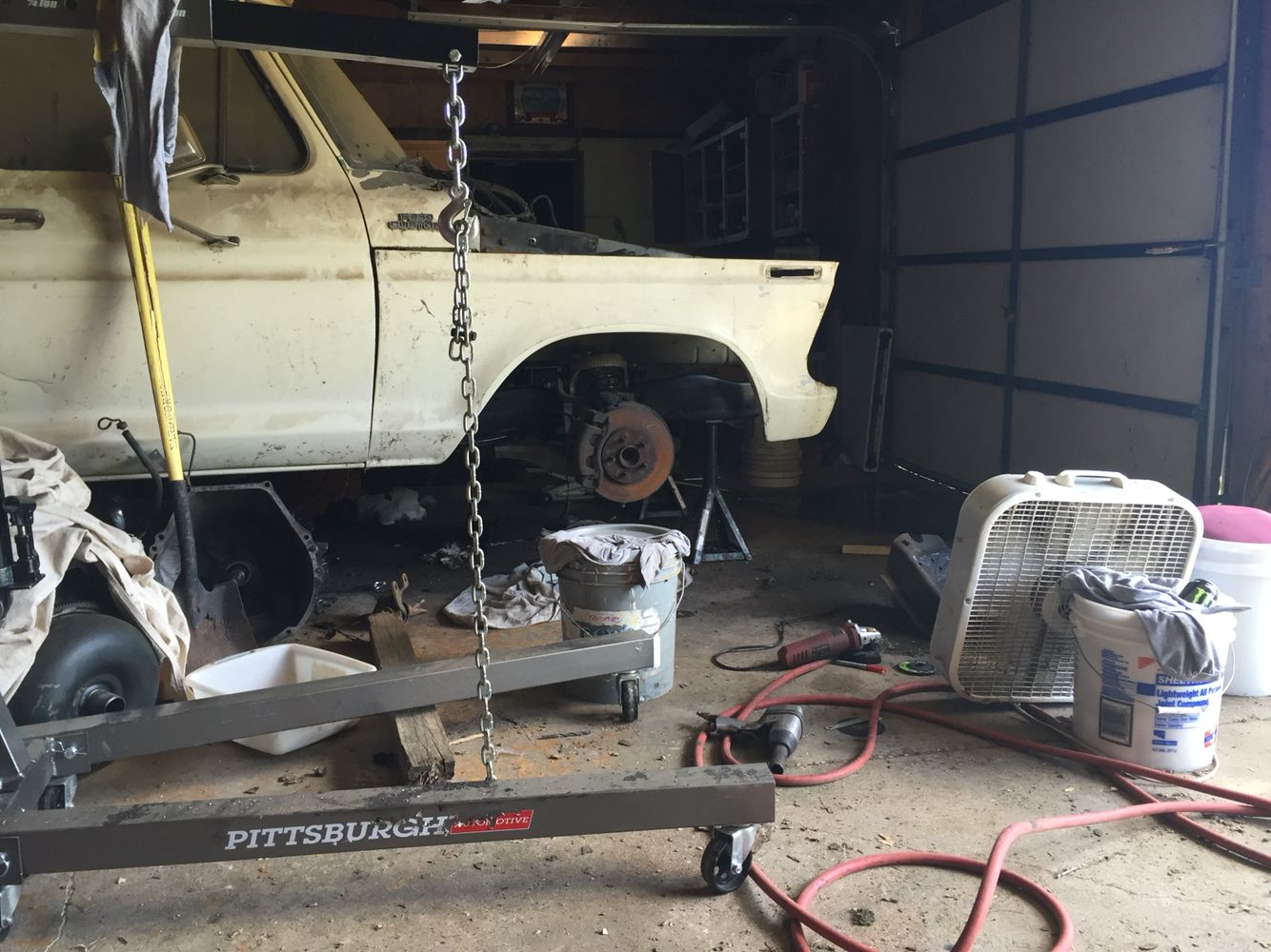 Crown Vic front end installed | 1979 Ford F 250 Lowered | Pinterest ...
