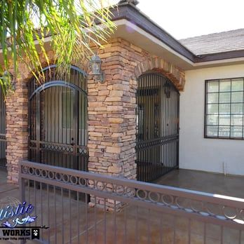 Wrought Iron Porch Enclosure With Matching Railings Yelp Iron