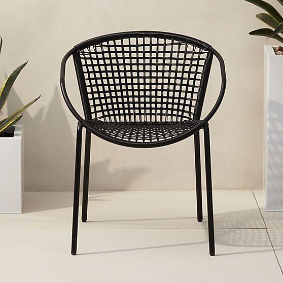 Sophia Black Dining Chair Reviews Cb2 Black Dining Chairs Outdoor Chairs Black Metal Dining Chairs
