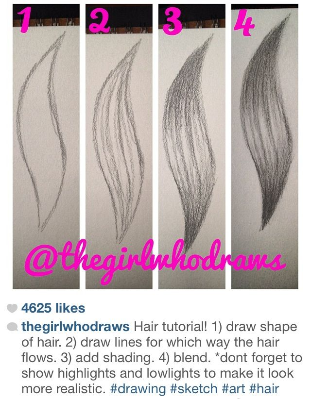 How To Draw Hair Artwork How To Draw Hair Drawings Art Drawings