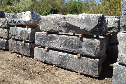 Granite Building Blocks : Building a reclaimed stone wall bench retaining