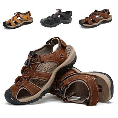5c9b3a9b86db ZHShiny Summer Sports Sandals Outdoor Men s Beach Shoes Leather Casual  Fisherman Shoe Korean Water Sandal Review