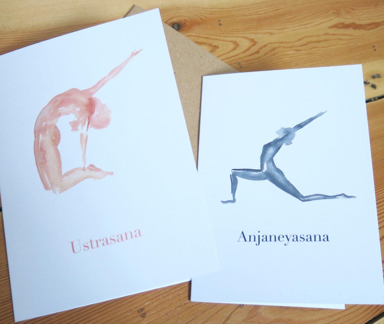 Yoga poses greeting cards pack of 2 anjaneyasana ustrasana yoga poses greeting cards pack of 2 anjaneyasana ustrasana blank kristyandbryce Image collections