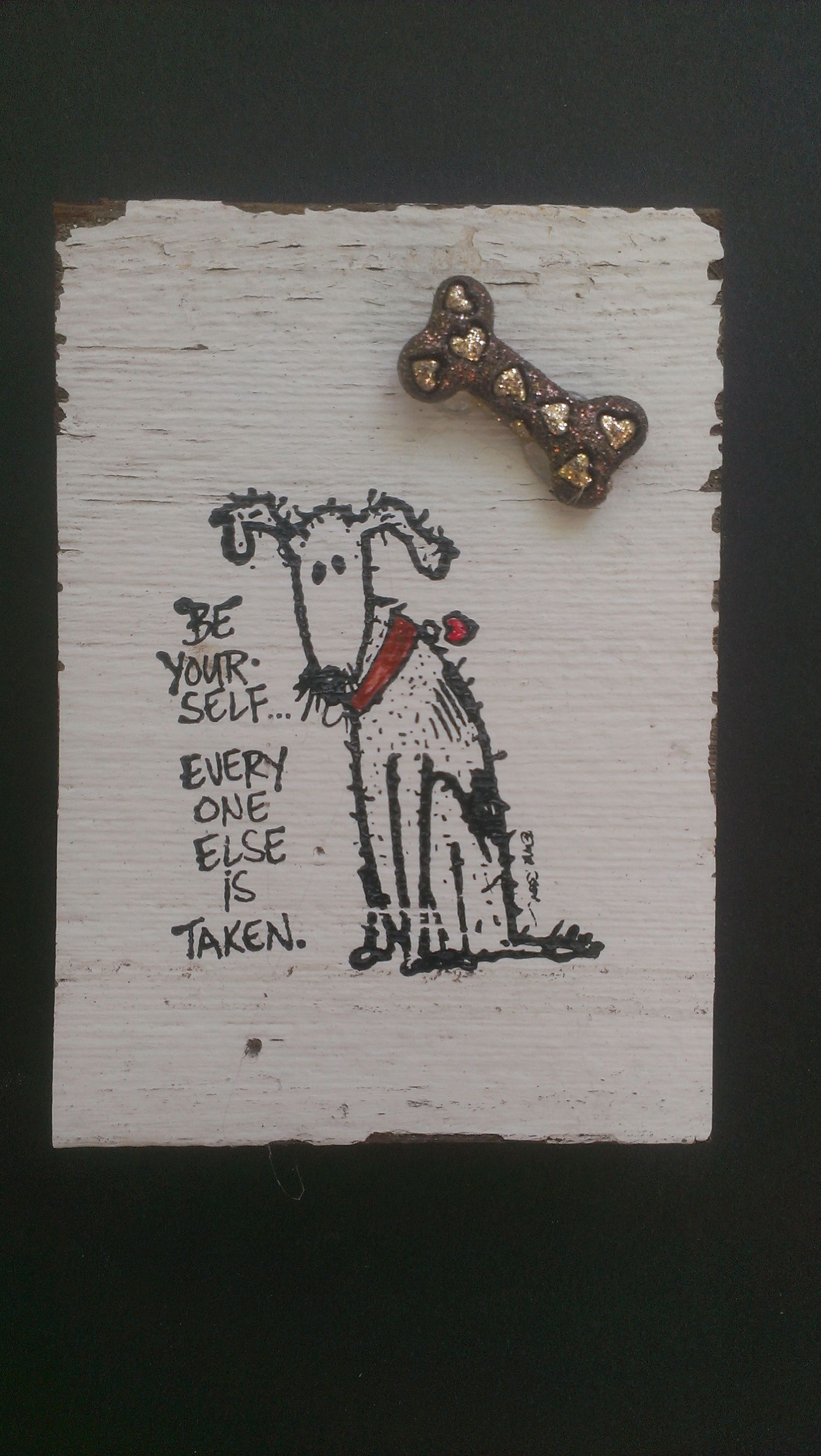 Such a cute magnet for all you DOG lovers!  But this magnet and many other cute ones on reclaimed wood at our Etsy store:  https://www.etsy.com/shop/JasonAndKimKreations?ref=search_shop_redirect
