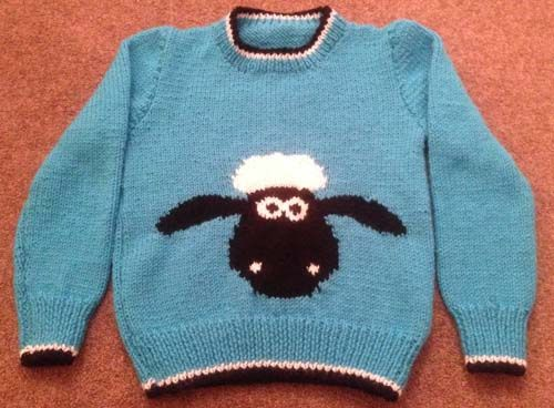 Shaun The Sheep Knitting Pattern Sweater Jumper With