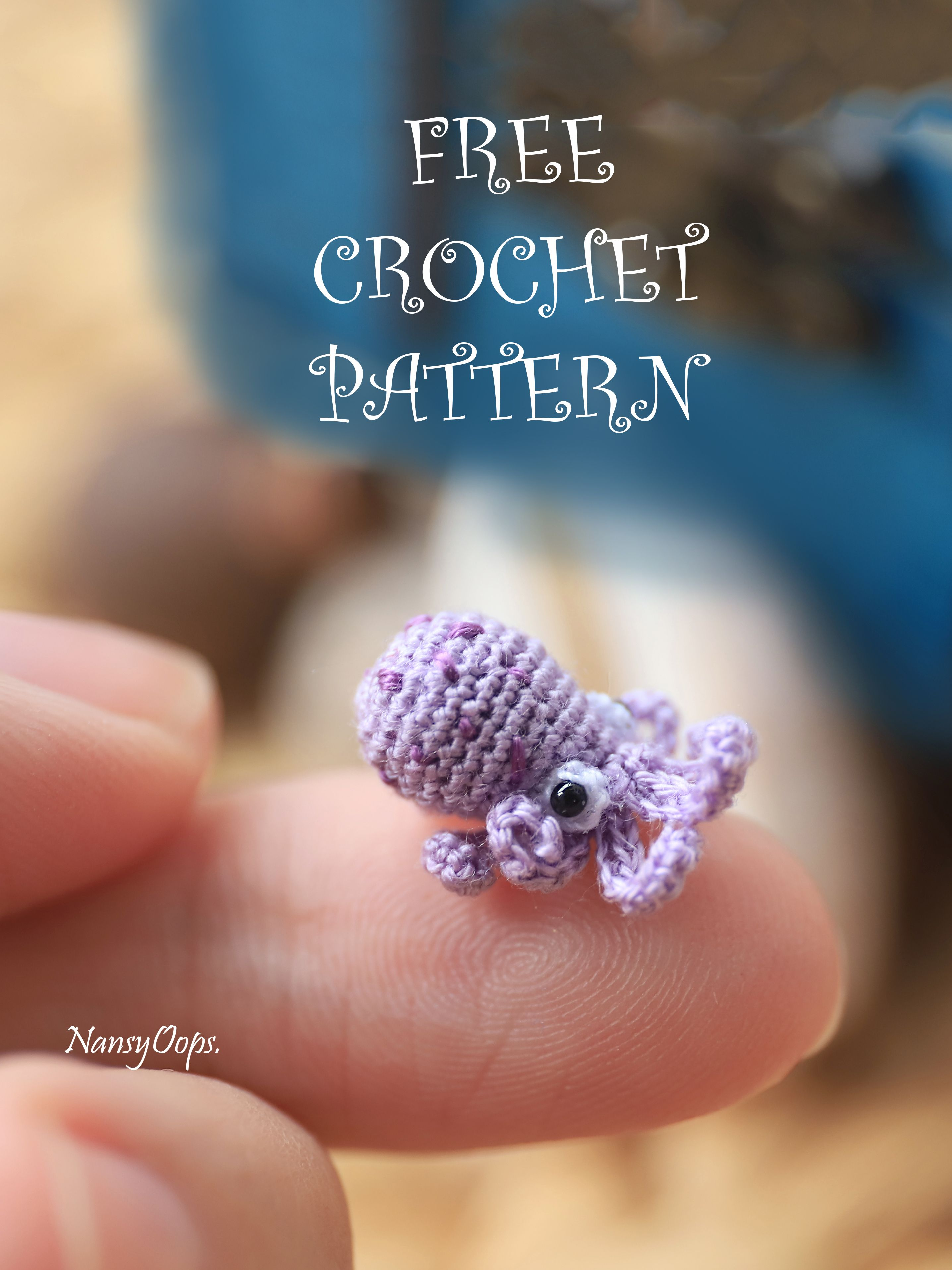 free crochet pattern tiny octopus #crochetoctopus