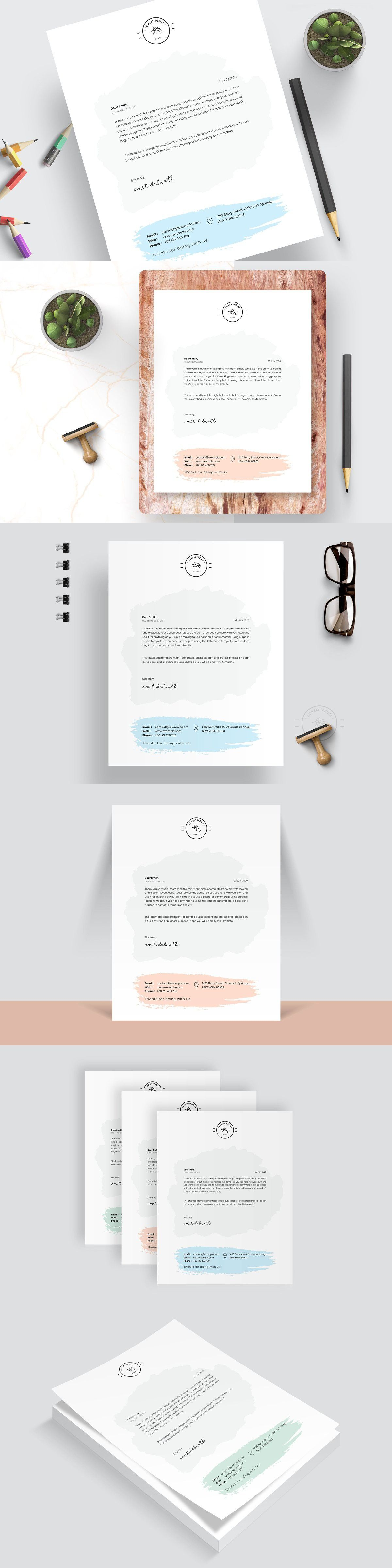 modern letterhead in 2020 stationery templates word cv template 2019 marketing graduate examples list of core competencies for resume