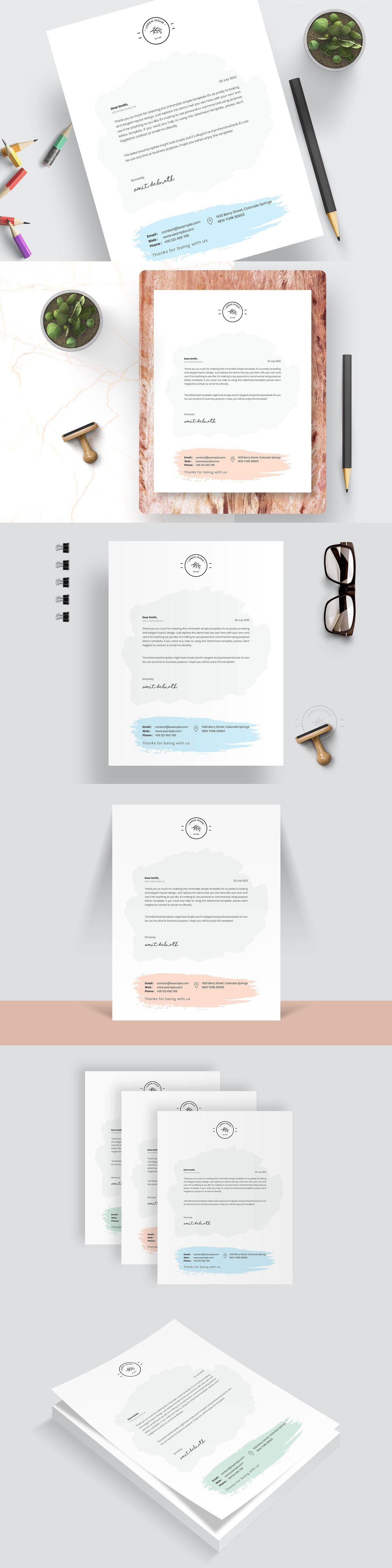 Modern Letterhead in 2020 Stationery templates