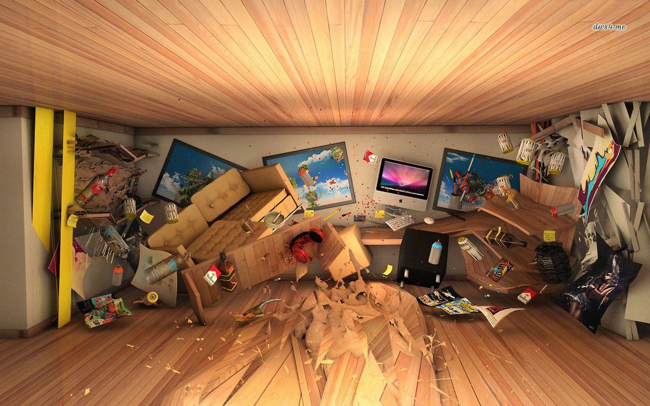 Room After Destruction P Messy Room Desktop Pictures Room