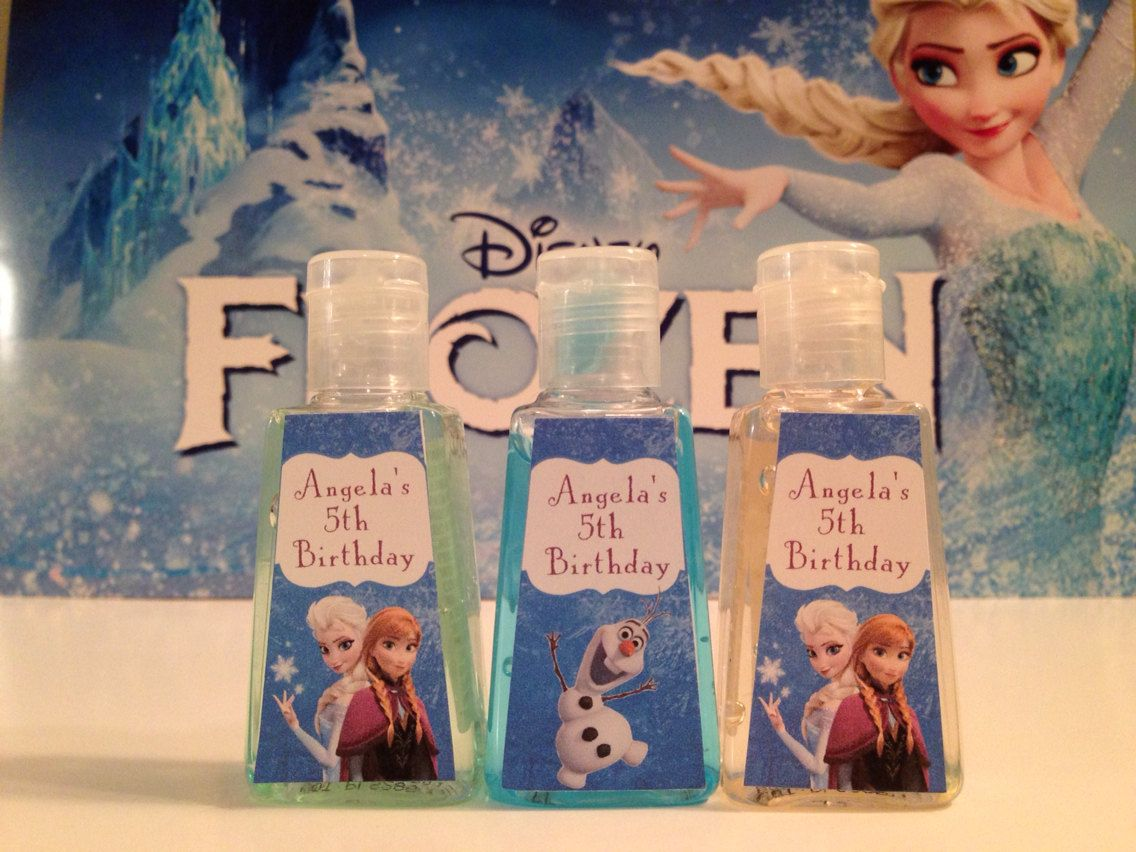 Disney Frozen Pocket Sized Hand Sanitizer Favors By Createdtoparty