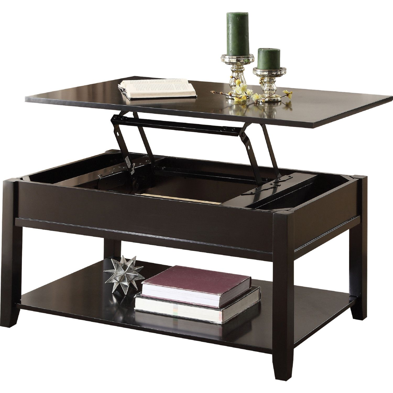 Acme Furniture 82950 Malachi Coffee Table W Lift Top Black Coffee Table With Storage Coffee Table Minimalist Coffee Table [ 1500 x 1500 Pixel ]
