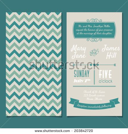 Vector vintage invitation card with background zigzag letters type vector vintage invitation card with background zigzag letters type ribbons and heart stopboris Images
