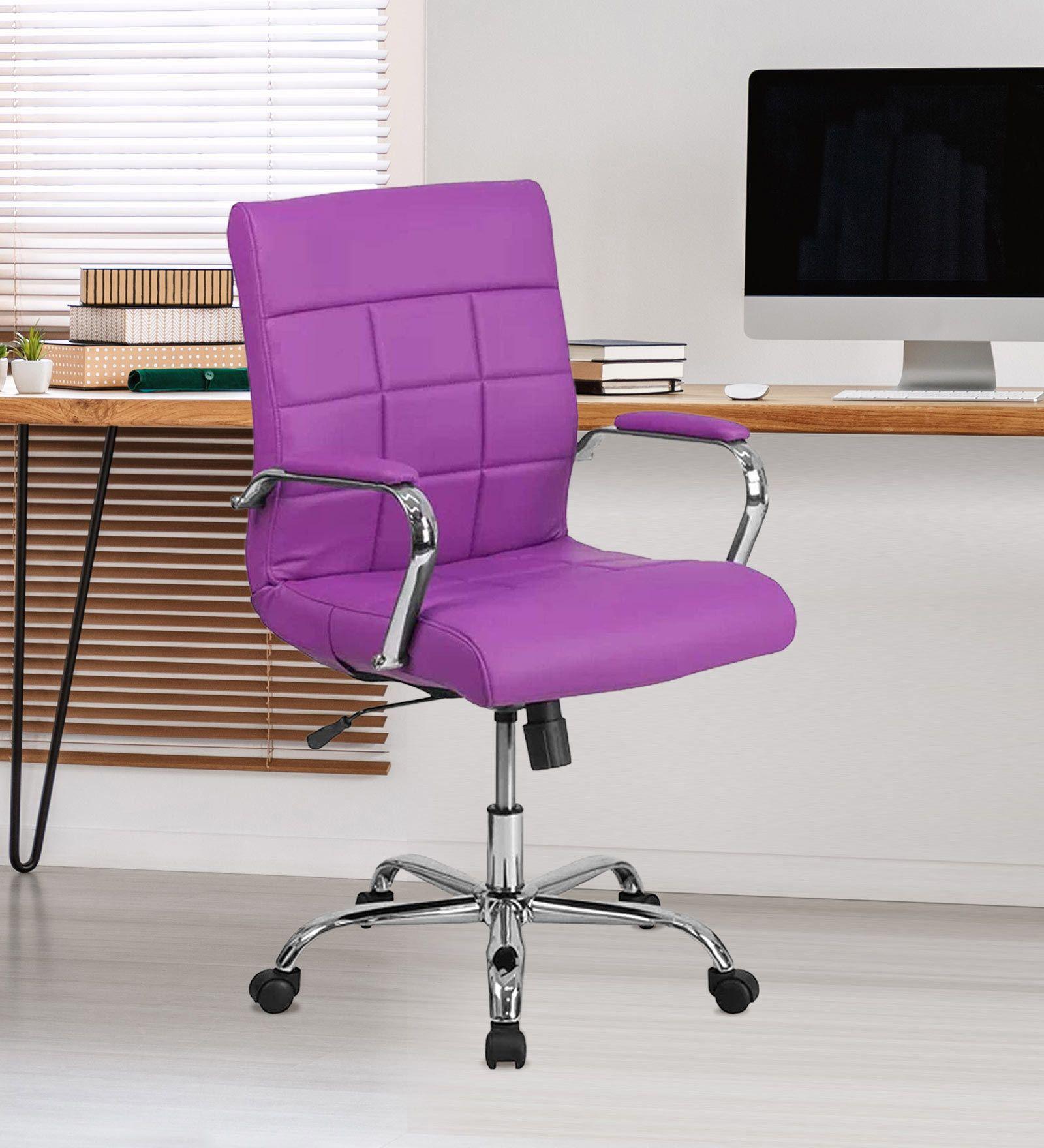 Eva Executive Office Chair Purple Colour by