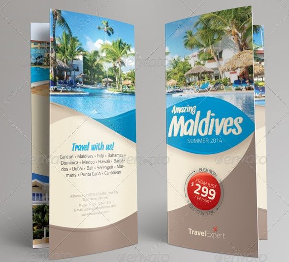 Printable Travel Brochure Template For Kids: Creative Travel Brochure Trifold Ideal For Travel Agencies