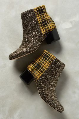 58d925c14d85 Sam Edelman Edith Booties Yellow Plaid  anthrofave