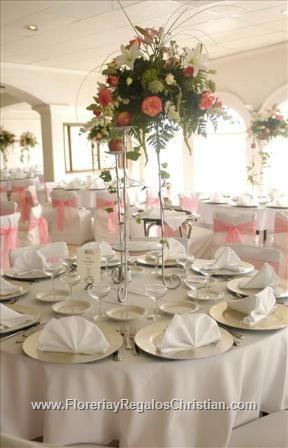 decoracin de flores para centros de mesa altos google search